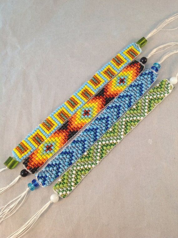 Seed bead loomed bracelet Seed bead bracelet colorful bead bracelet friendship bracelet handmade loomed beaded bracelet colorful beads cuff