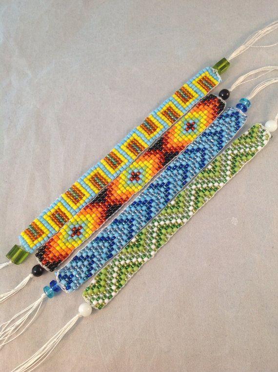 Seed bead loomed bracelet Seed bead bracelet colorful bead bracelet friendship bracelet handmade loomed beaded bracelet colorful beads cuff