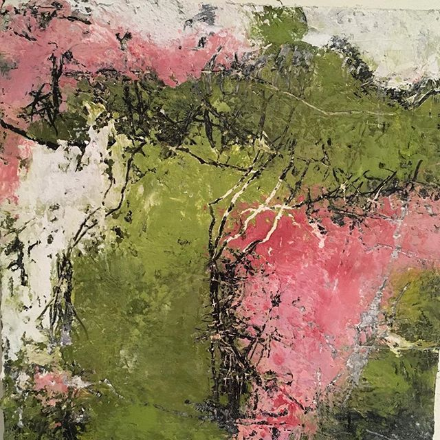 """Contemporary Abstract Art perfect for modern home decor. """" A Taste of Spring"""" by Carole Leslie"""