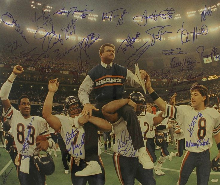 1985 Bears Team Signed Super Bowl XX 20x24 Photo Signed By (30) With Mike Ditka, Jim McMahon, Mike Singletary, Richard Dent (Schwartz COA)