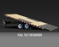 Tilt Deckover Equipment Hauler