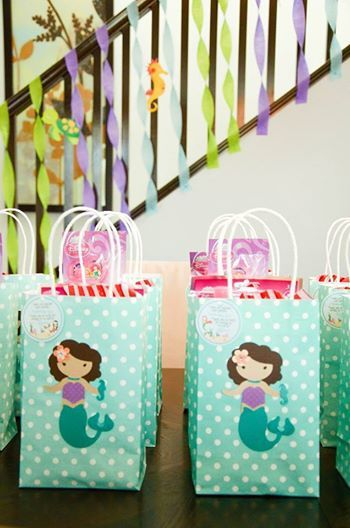 The Little Mermaid Inspired Goody Treat Bags Favor Under