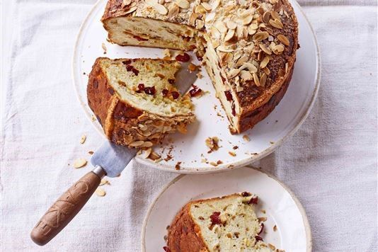 Paul Hollywood's Sicilian Lemon and Orange Sweet Bread ~ based on the flavours of a classic Italian celebration cake called Colomba di Pasqua, similar to a panettone but shaped like a dove and sold all over Italy to celebrate Easter | recipe from Paul Hollywood via LoveFood.com