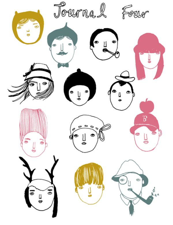Faces by Kay van-Bellen (via Where the Lovely Things Are) #KayVanBellen #faces #lineart