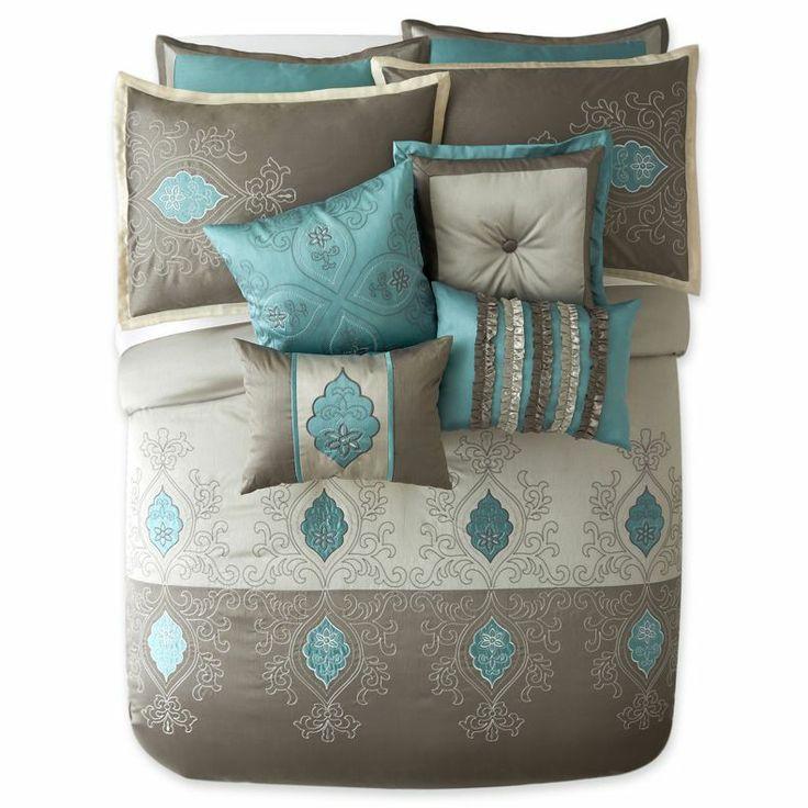 Jcpenney Shalimar 10 Pc Comforter Set Jcpenney Decorating Bedroom Pinterest