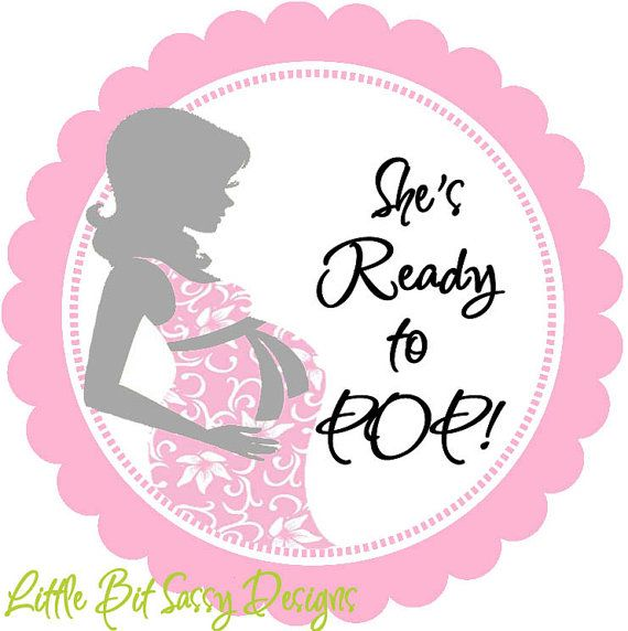 Baby Shower Mommy To Be She Is Ready To Pop Personalized Round