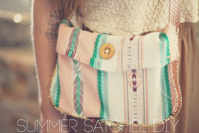 Summer Satchel DIY: Diy Bags, Belts Bags, Satchel Diy, Summer Bags, Summer Satchel, Sincerely Kinsey, Music Festivals, Hands Stitches, Diy Projects