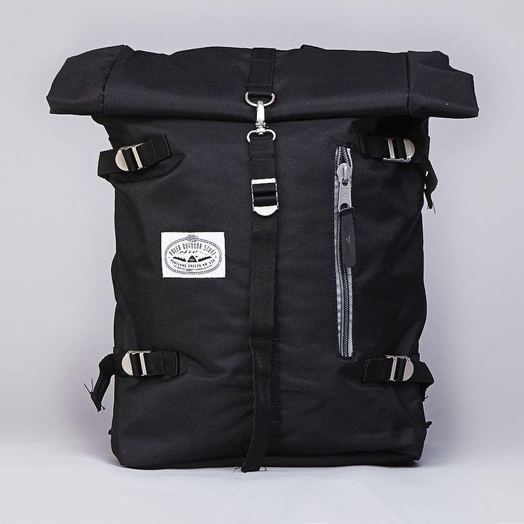 Poler Rolltop Backpack Pack Black