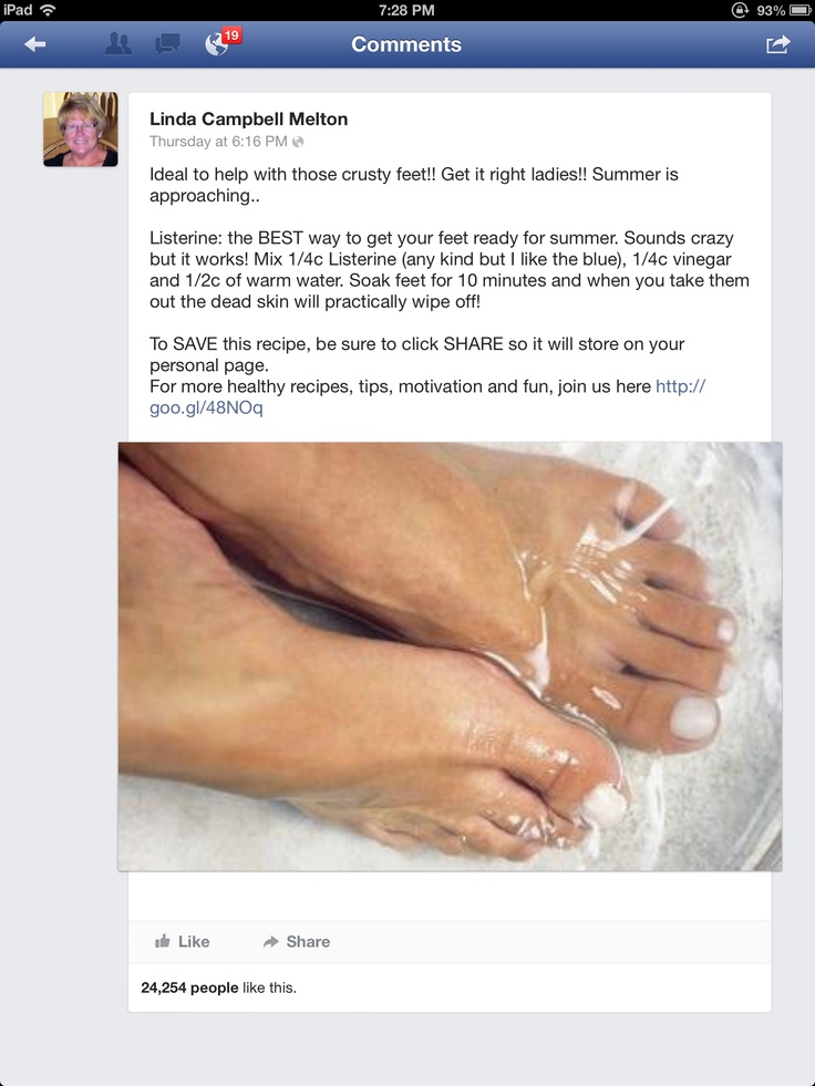 Foot soak: It Work