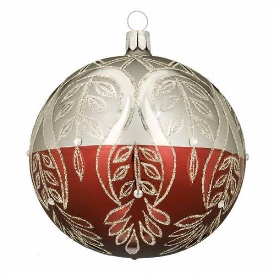Holiday Heirlooms Boreal Peacock Ball Ornament