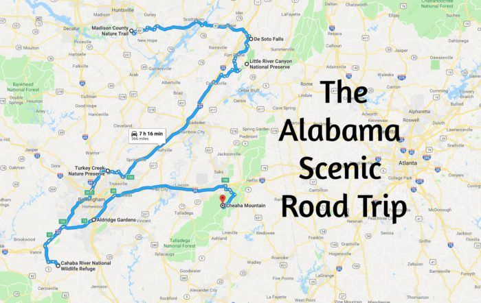 Take This Scenic Road Trip In Alabama For An Unforgettable Adventure Scenic Road Trip Road Trip Scenic Roads