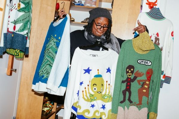 whoopi goldberg sweaters for sale | Ugly' Christmas sweaters bring joy to Whoopi Goldberg | The Columbus ...