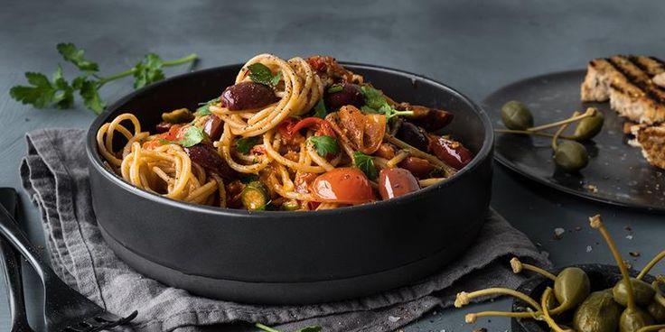 Spaghetti alla puttanesca med unike italienske smaker -