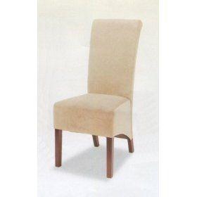 Tan Microfiber Skirted Parson Chair (Set of 2) - Coaster 100494TAN Parson $130.95
