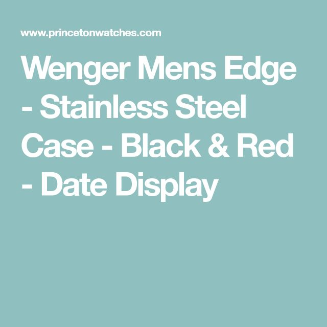 Wenger Mens Edge - Stainless Steel Case - Black & Red - Date Display