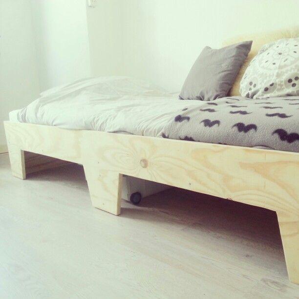 Bed Handmade By Hans Catshoek Plywood Underlayment