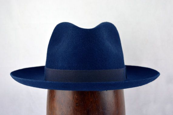Hey, I found this really awesome Etsy listing at https://www.etsy.com/listing/269151416/deep-blue-western-fedora-wide-brim-pure