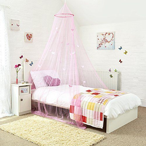 Princess Bed Canopy   Beautiful Butterfly Childrens Bed C... Https://.  Princess BedsPrincess BedroomsBedroom Ideas ...