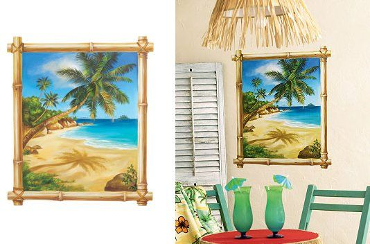 Wallies Tropical Window Wall Mural - Wall Sticker Outlet