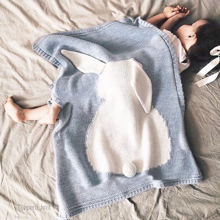 Baby Blanket Pink White Cute Rabbit Gray For Bed Sofa Wool blanket Cobertores Mantas BedSpread Bath Towels Play Mat Gift 73*105