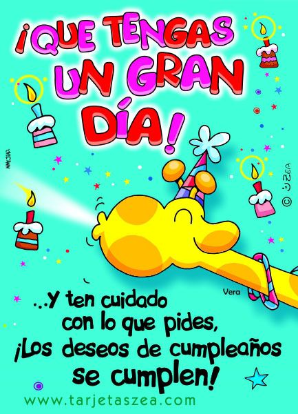 Tarjetas De Cumpleanos Para Facebook Vera u00a9 ZEA www tarjetaszea com Projects to Try