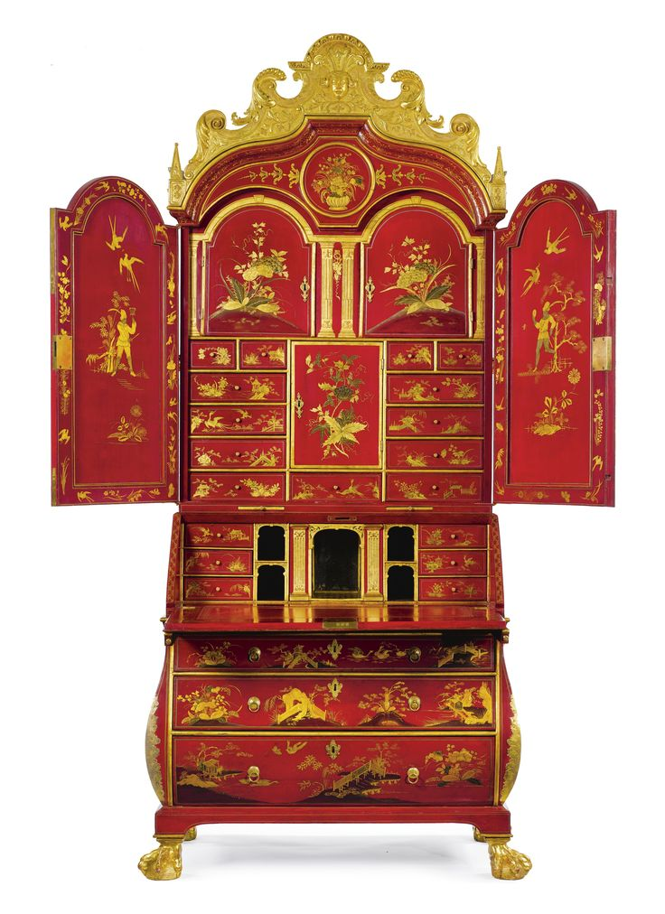 160 best lacquered furniture images on pinterest antique for Bureau baroque