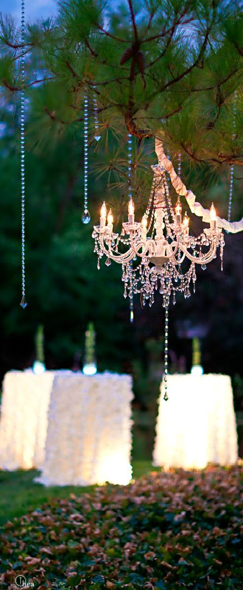 23 Charming Chandelier Ideas for Your Garden                              …
