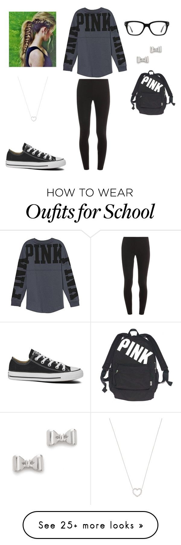 """School"" by emmakielsmeier on Polyvore featuring Victoria's Secret, Splendid, Converse, Marc by Marc Jacobs and Tiffany & Co."