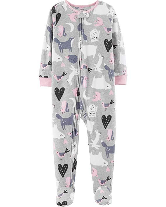 737d9927ad6a Carter s Baby Girls  One-Piece Fleece Footie Pajamas (Heather ...