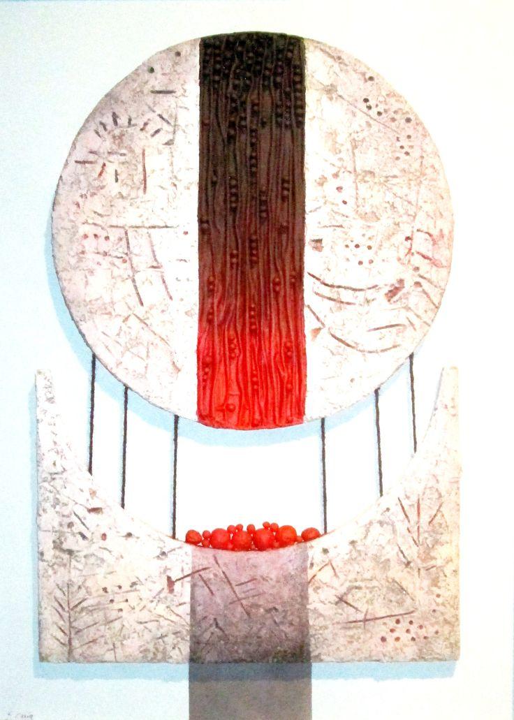 """Clessidra"" cm 74.5 x 105 Tecnica: polimaterica"
