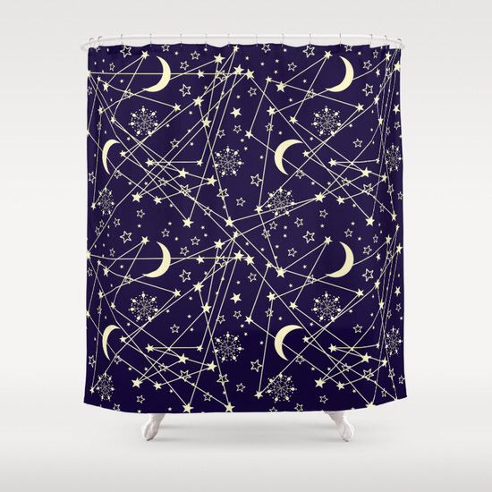 Galaxy shower curtain, boho shower curtain, space bathroom decor, bathroom shower curtains, fabric shower curtain by Famenxt on Etsy https://www.etsy.com/listing/254975098/galaxy-shower-curtain-boho-shower