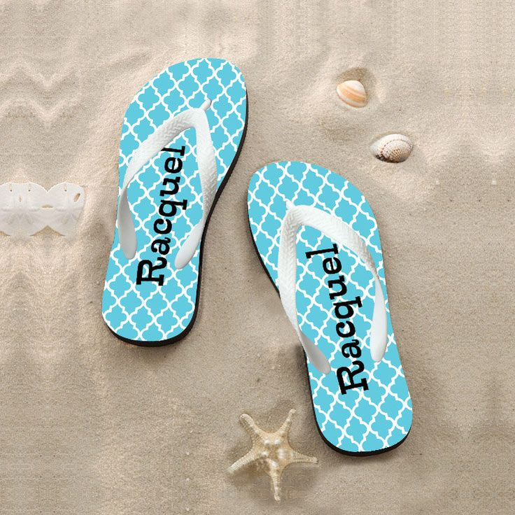 Custom flip flops,Put your own design on Flip Flops, For Beach, Wedding gifts, For bridesmaid,Bride, Groom by OnlyOneGift on Etsy