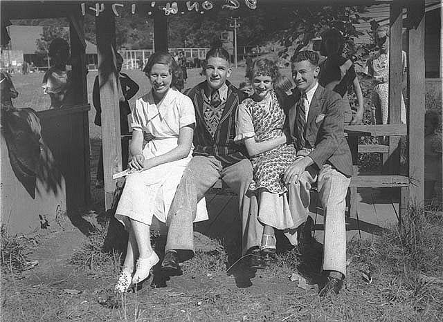 Two couples, Australian Paper Mills Picnic, Clifton Gardens, Sydney 1935 / by Ernie Bowen