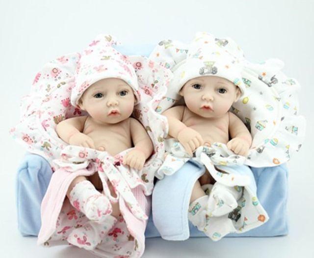 "2pcs Preemie Silicone Reborn Baby Dolls 11"" Wash Babys Twins Boy & Girl Toy Set in Speelgoed en spellen, Poppen, kleren, accessoires, Handgemaakte poppen   eBay"