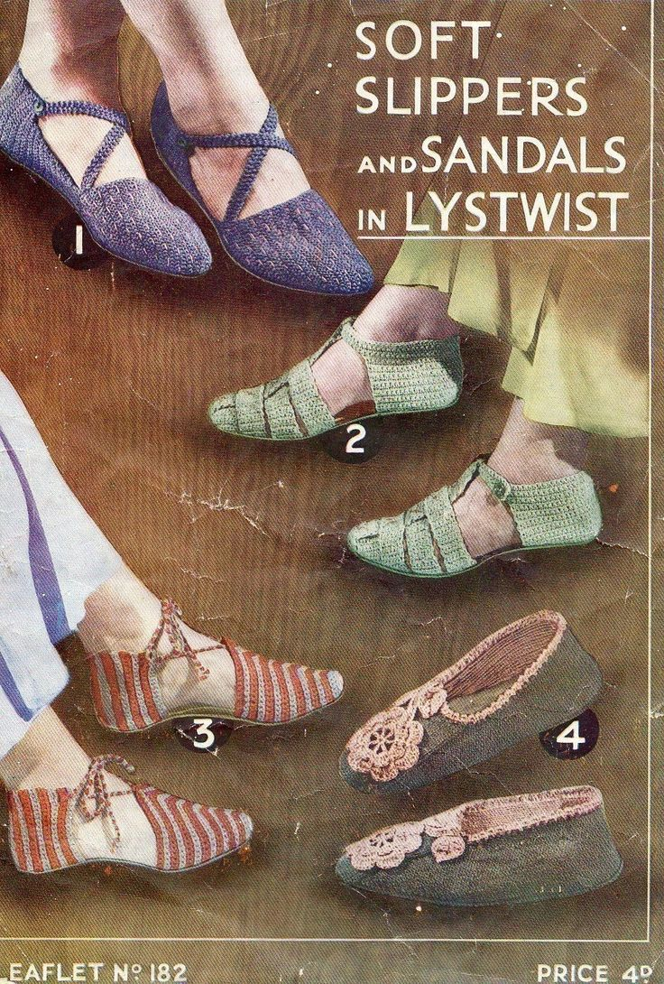 how to add soles to crochet sandals and slippers | Free Crochet Shoe Patterns