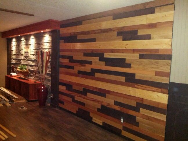 Wood Mosaic Wall Art We Put Up As A Weekend Project Its Made Up Of