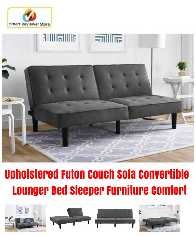 Upholstered Futon Couch Sofa