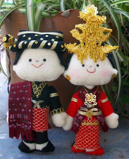 Batak Mandailing Wedding Dolls