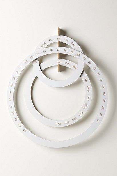 Perpetual Ring Calendar #anthropologie - Wonder if I could make my own version