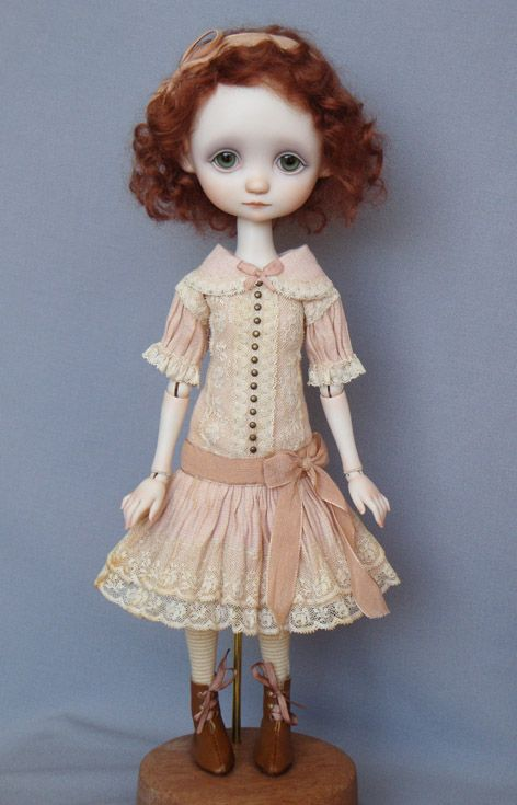 A porcelain ball-jointed doll by Anna Salvador