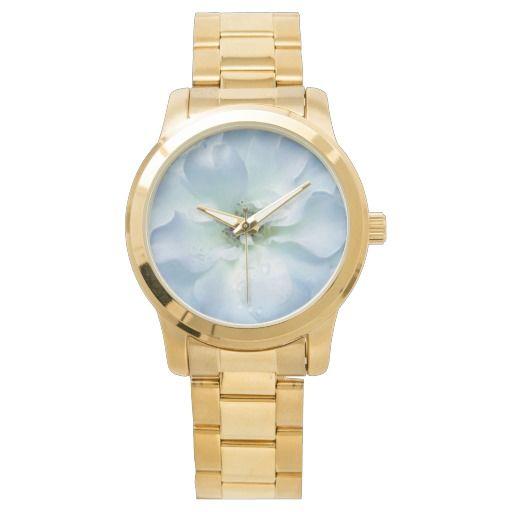 Pretty blue Rose wrist watch