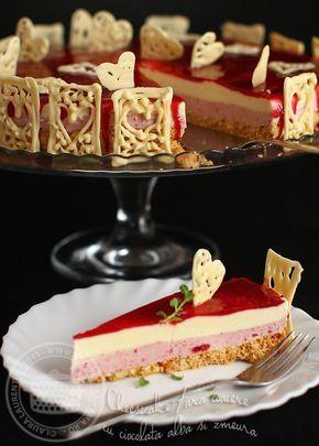 Cheesecake fara coacere si fara oua, cu ciocolata alba si zmeura - delicat, racoritor, usor de facut Chiar daca Sfantul Valentin e o sarbatoare care pe multi ii deranjeaza prin...