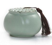 1 UNID Yuyao Exquisita Carrito de Té Olla de Té de Cerámica Tarro Sellado Caramelo Recipiente de Cerámica Pot KO 010(China (Mainland))