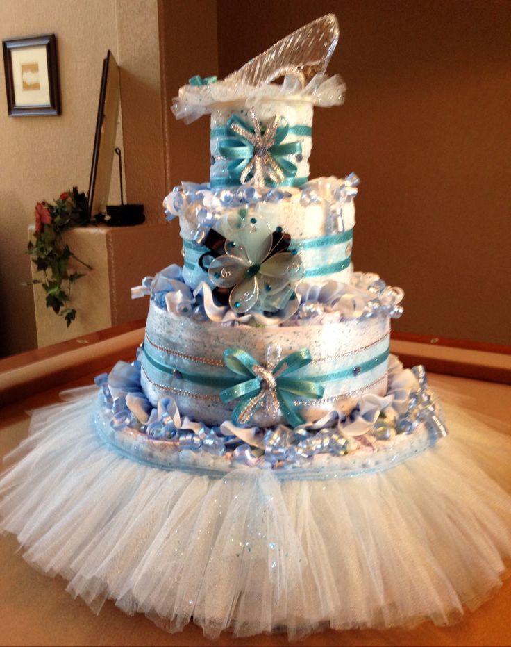 Cinderella Theme Diaper Cake