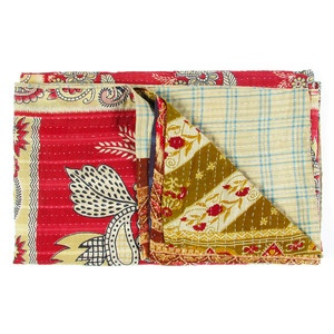 Vintage Sari Throw Kadana now featured on Fab.