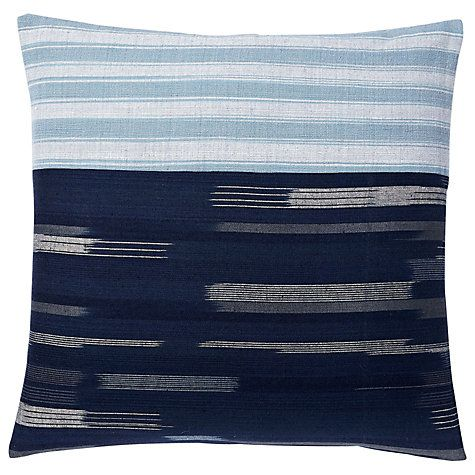 Buy west elm Silk Ikat Cushion, Nightshade Online at johnlewis.com
