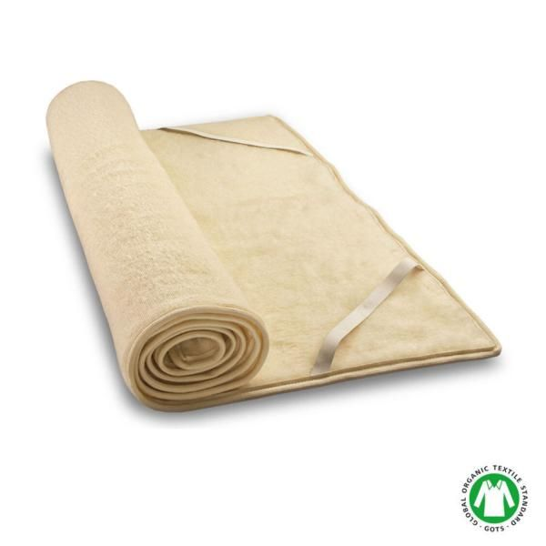 Woll-Felpa es un topper natural todo de lana virgen cosido en efecto felpa. Tiene 1,5 cm de grosor y esta fabricado por Baumberger.El tejido, al tener un acabado de estructura abierta, absorbe gran cantidad de sudación en poco tiempo (semejante...