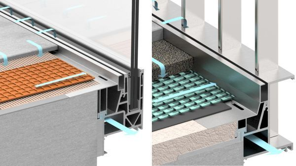 Geländersystem AQUA VIVA mit integrierter Balkon-Entwässerung