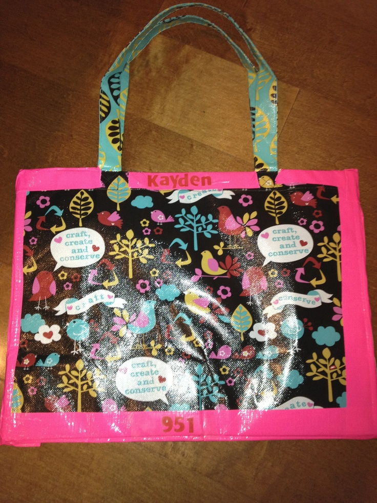 Girl Scout Sit Upons Made With Cute Bags From Joanns