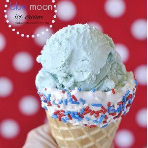 Homemade Blue Moon Ice Cream. This homemade ice cream recipe cannot be missed!